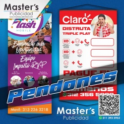Pendones en Full Color en todas las dimensiones