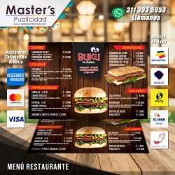 Menú para Restaurante...